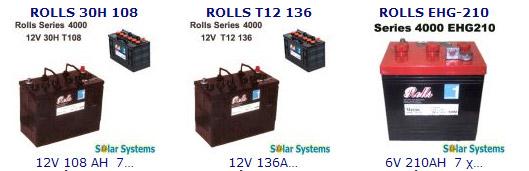 Rolls μπαταρίες, φωτοβολταικό σύστημα, κλειστού τύπου marine series 4000, 5000, ROLLS BATTERIES